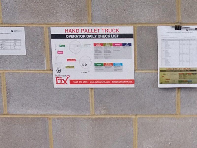 Pallet truck checklist